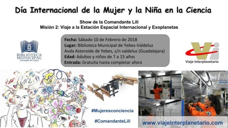 Cartel_día_mujer_niña_ciencia_Biblioteca_Yebes