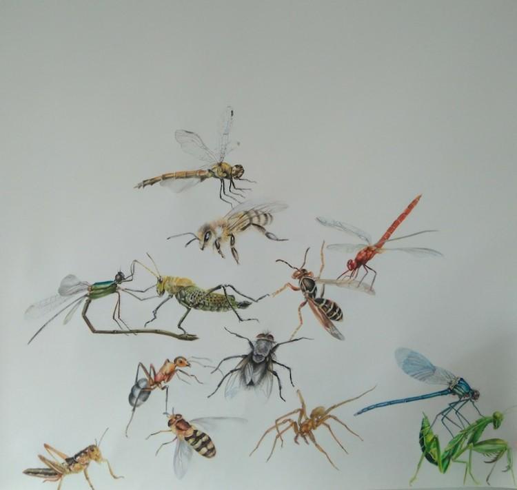 lina vila, todos afanados como insectos procurando una compañía, 2018
